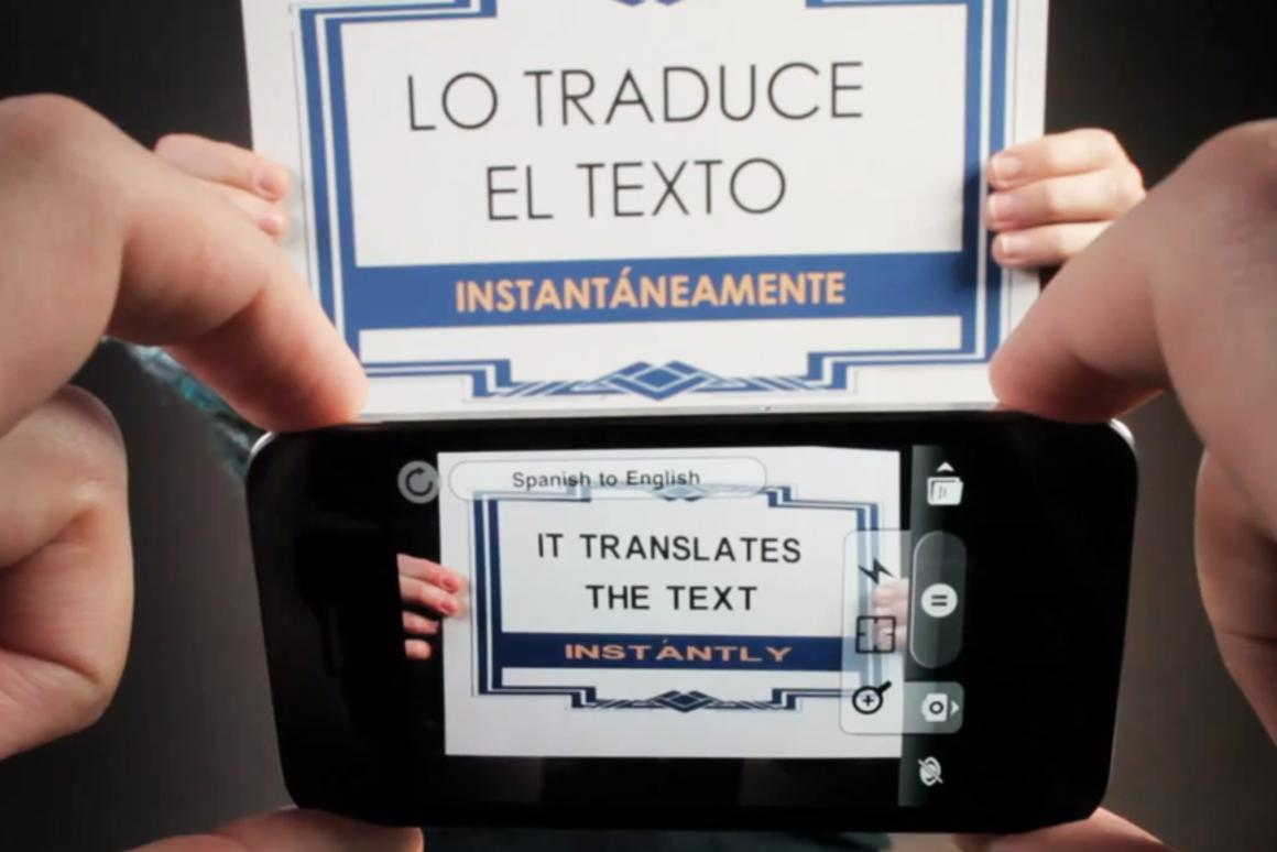 Word Lens translates text captured using the camera on an iOS or Android device