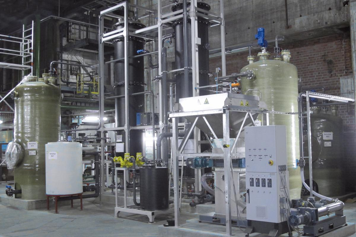 The pilot plant in Stuttgart that makes biogas out of waste from wholesale markets (Photo: Fraunhofer IGB)