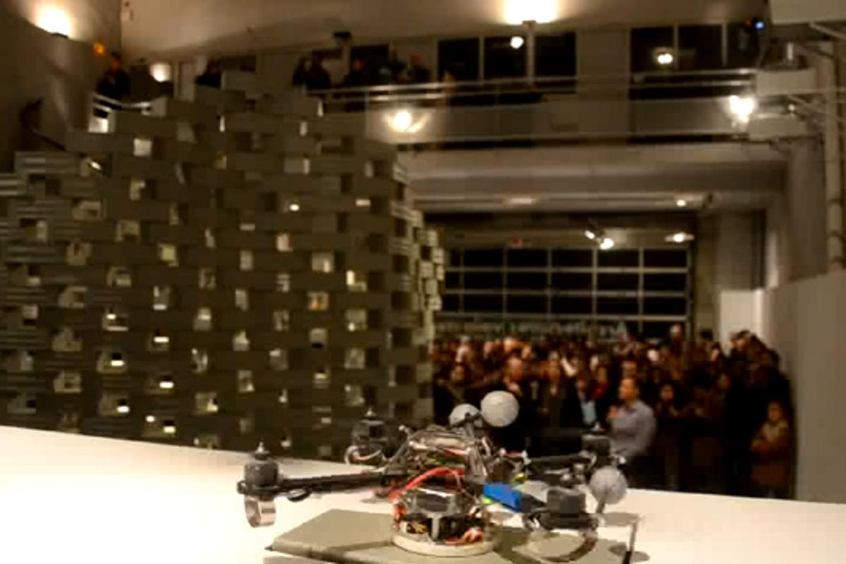 France's FRAC Center is hosting an exhibition built entirely by flying robots