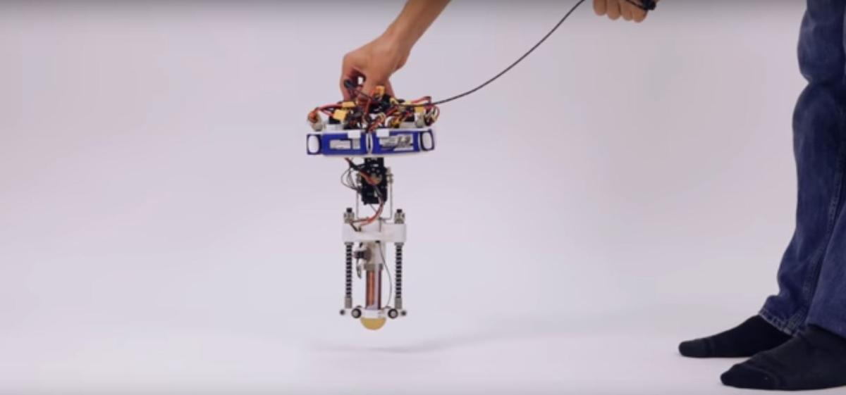 TheDisney hopping robot is the first to operate without a tether or outside power