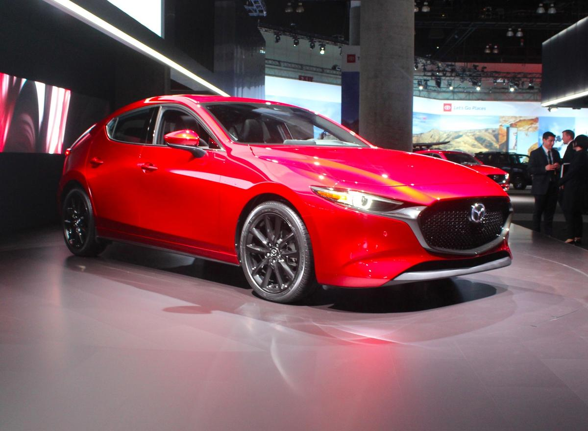 The all-new Mazda3 on the floor at the 2018 LA Auto Show