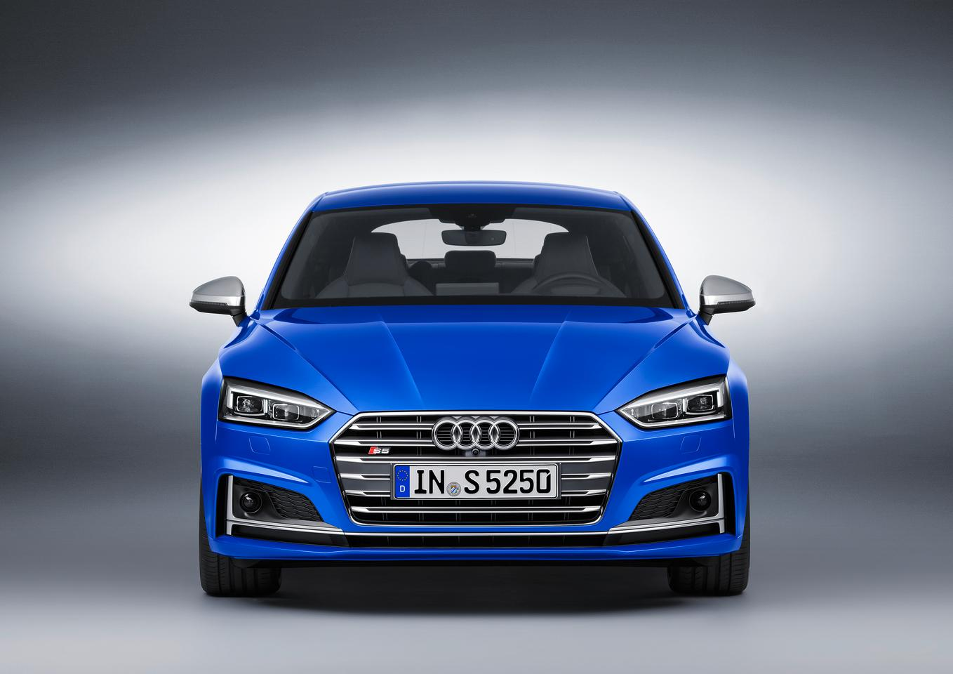 The new Audi S5 Sportback looks like a regular coupe from front on