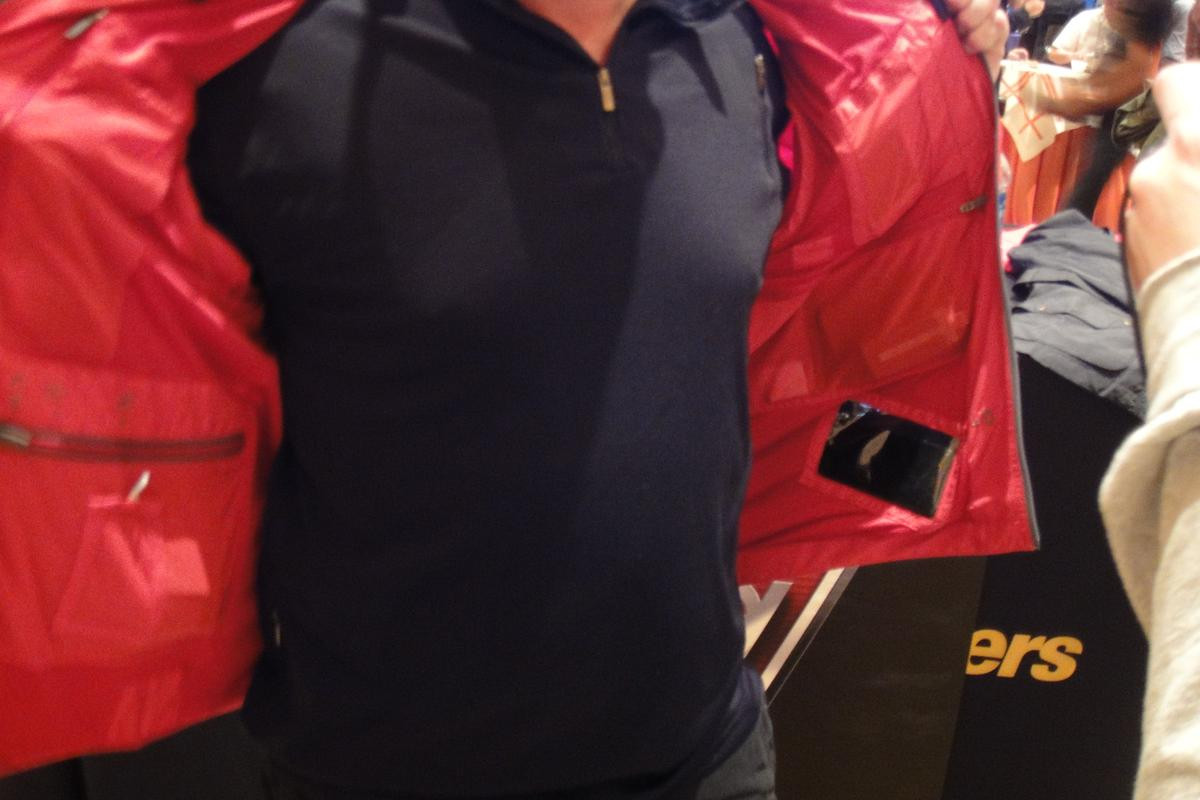 SCOTTeVEST CEO Scott Jordan was on hand at CES to show-off the new prototype jacket