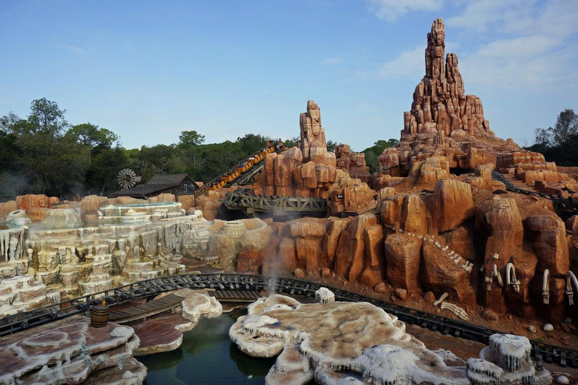 Enjoying the mild thrills of Big Thunder Mountain Railroad has been found to help in passing kidney stones
