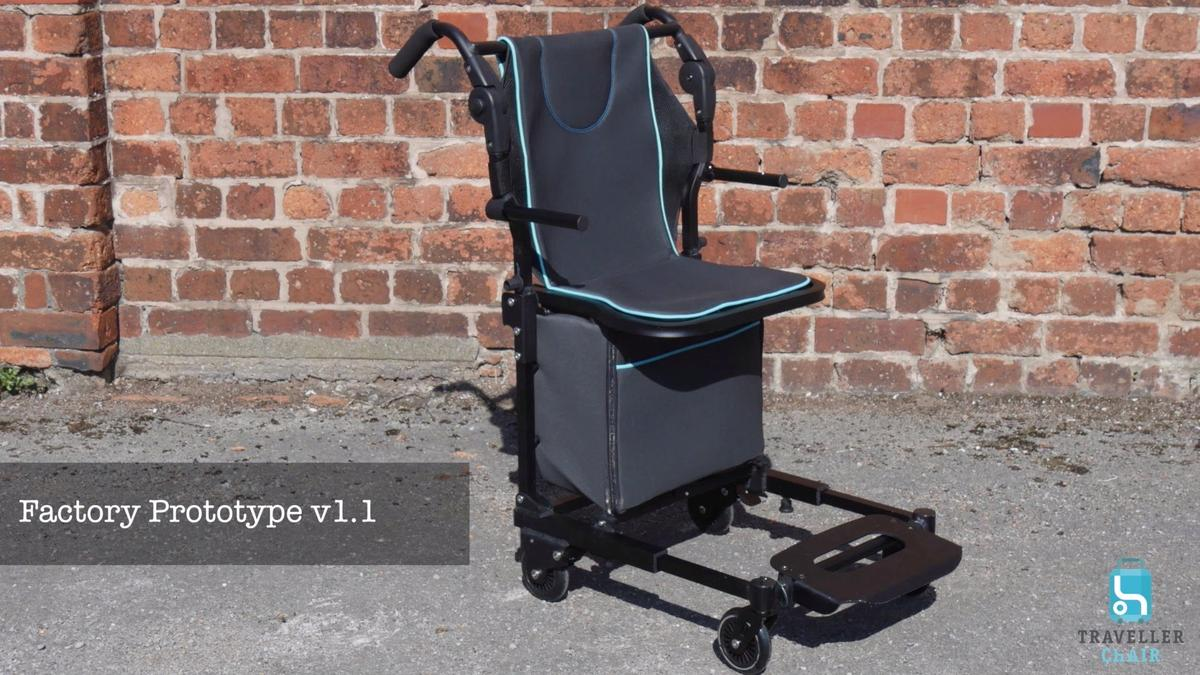 The original Traveller Chair prototype, in wheelchair mode