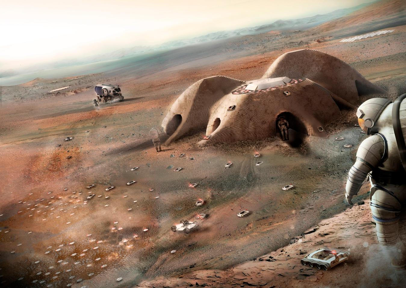 Foster + Parterns' 3D-printed Mars shelter would cover an area of 93 sq m (1,001 sq ft)