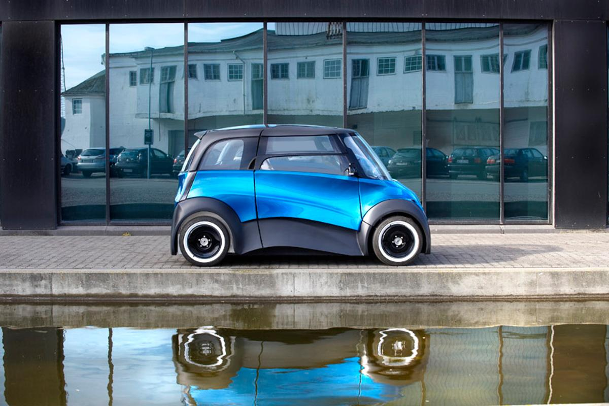 ECOmove's QBEAK is an electric car targeted at urban dwellers