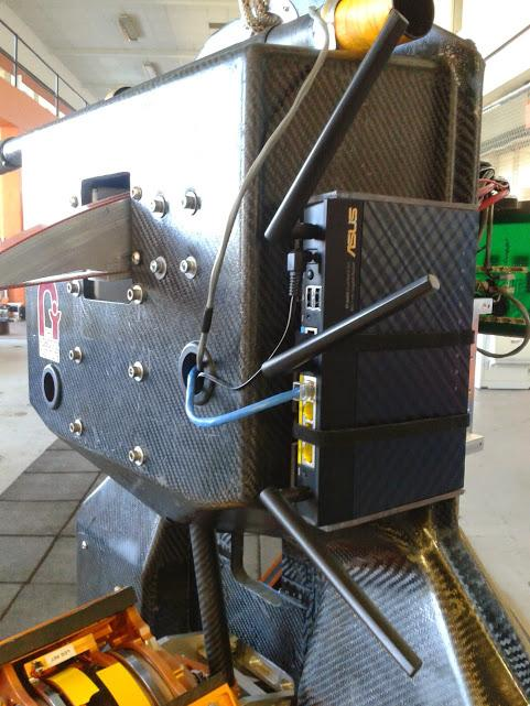ATRIAS outfitted with a wireless receiver (Photo: Oregon State University)