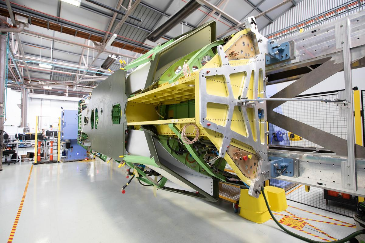 Boeing has completed the major fuselage structural assembly for its first Loyal Wingman aircraft
