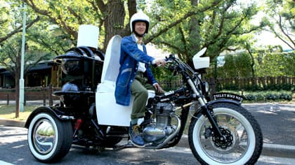 The toilet trike will hit the Japanese roads in the coming days, making its way from Kyushu to Tokyo (Image: TOTO)