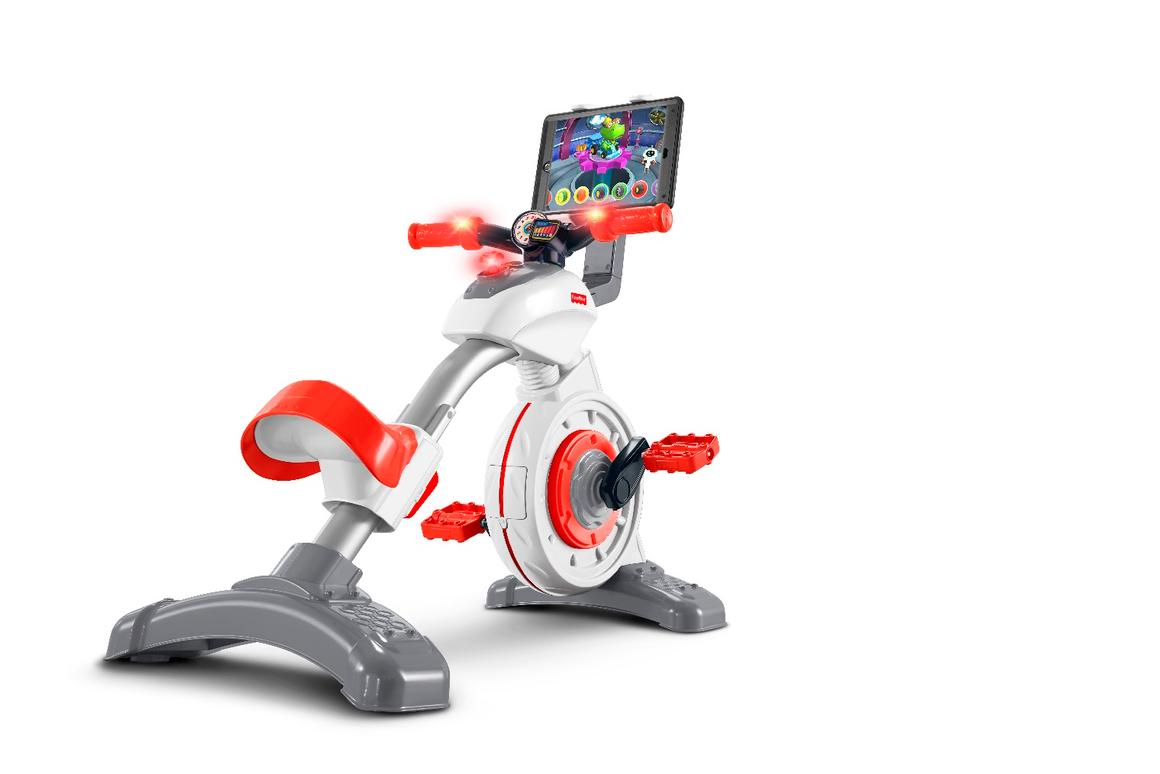 The 2017 Smart Cycle connects wirelessly to a docked tablet or living room TV over Bluetooth and runs app-based learning games