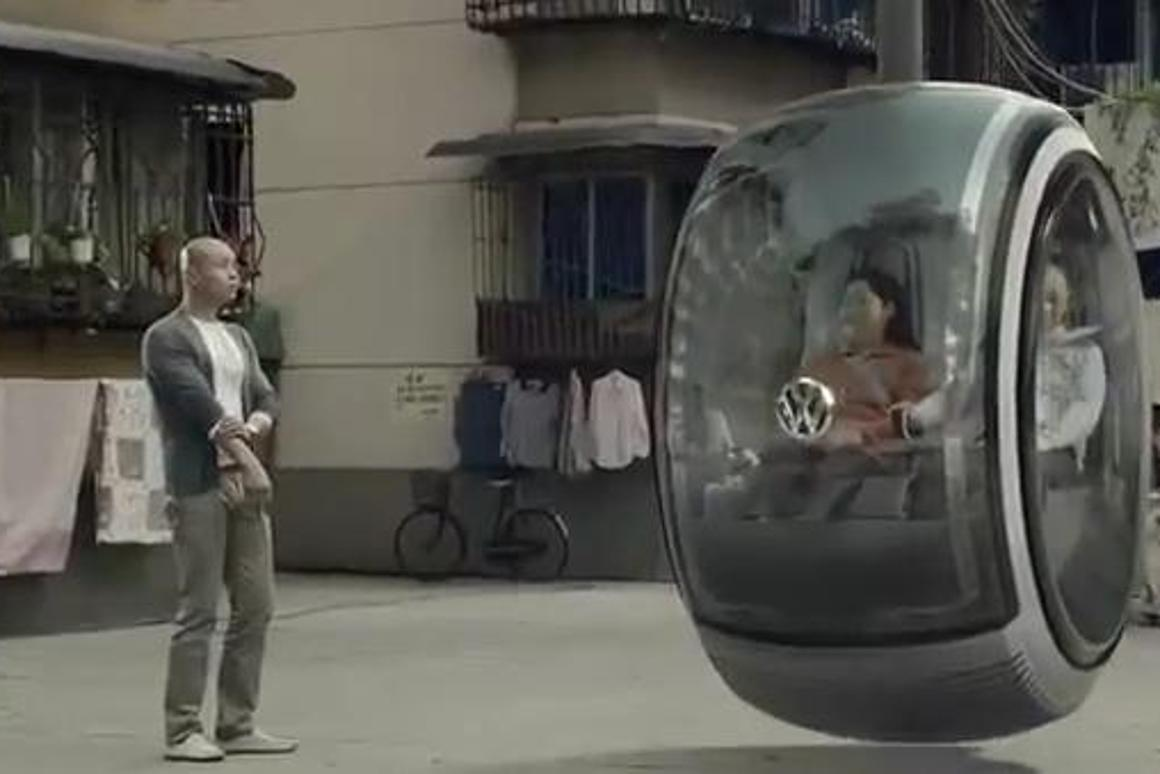 The Hover Car is capable of traveling above ground