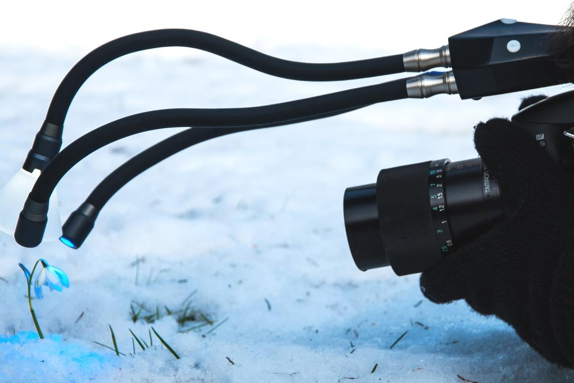Adaptalux is a macro lighting system which uses flexible LED arms