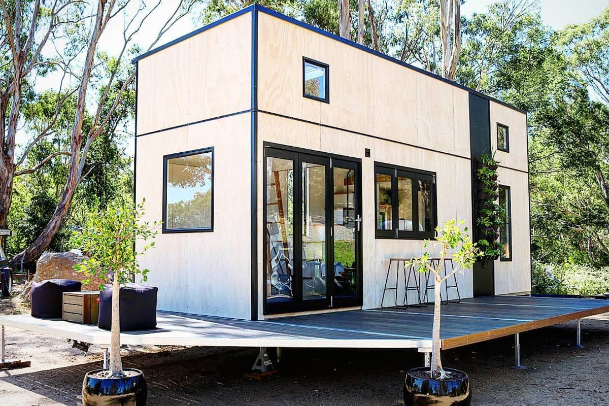 Australian couple Shona Macpherson and Barlo Smith have completed their first tiny house, the Sowelo