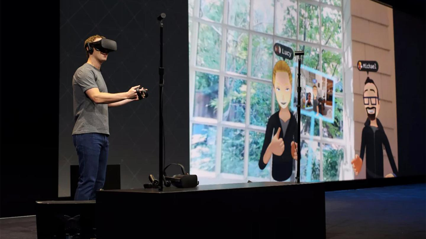 Mark Zuckerberg gives a live demo at Oculus Connect 2016