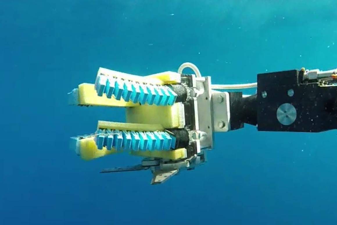 The soft robotic grippers developed by the team are less heavy-handed than existing solutions