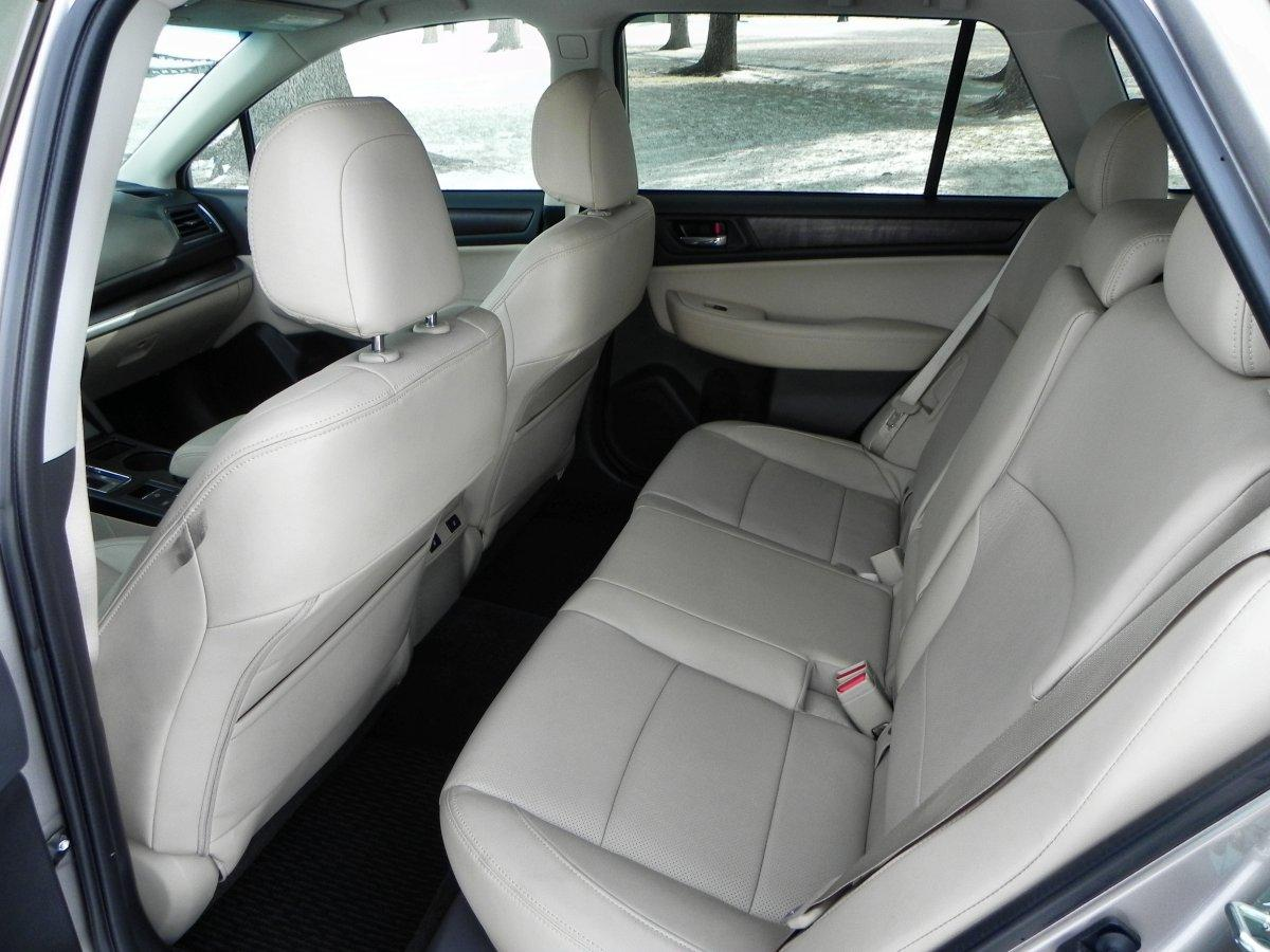 An interior highlight for the Outback is its rear seats, which are far more accommodating than they've been in past generations of the Outback