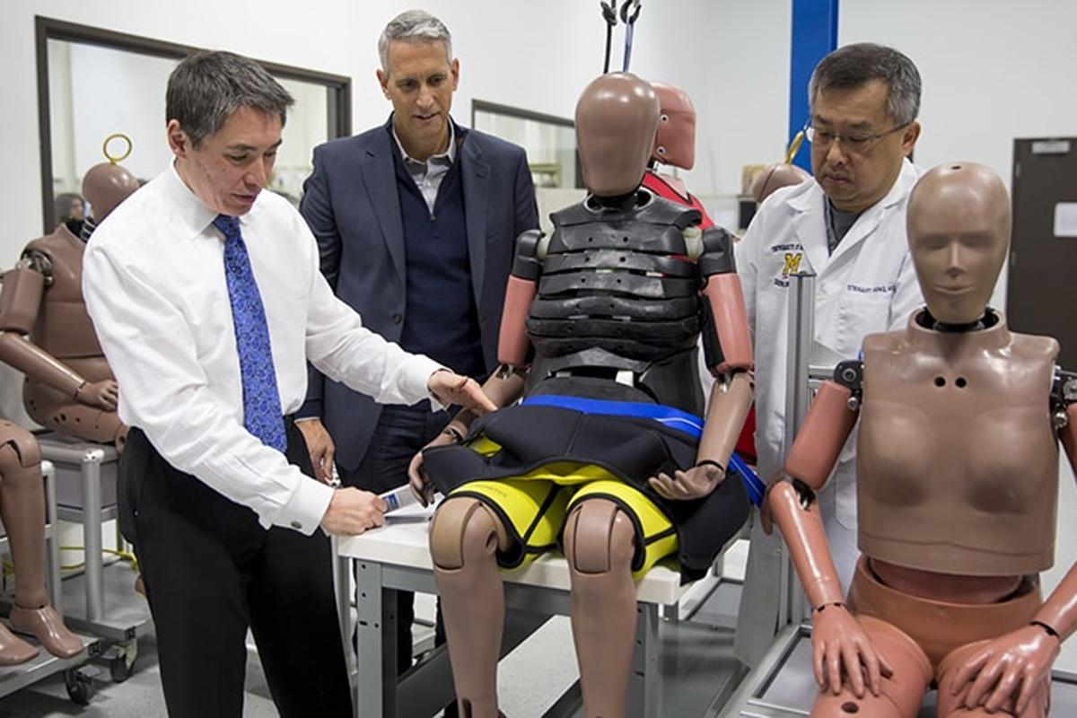 Crash test dummies are evolving to reflect a heavier and older boomer generation