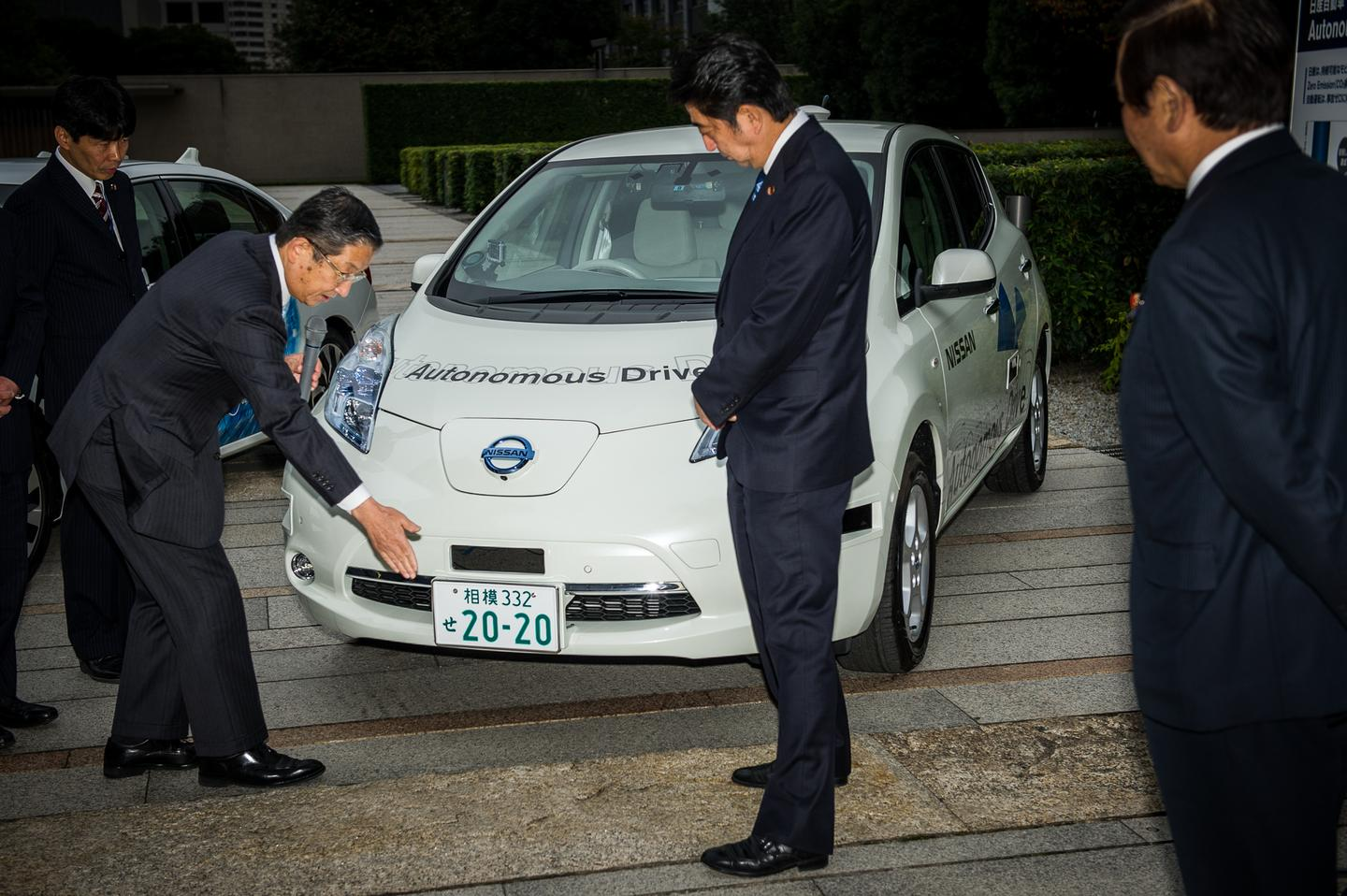 The event marked the first time autonomous cars have driven on public roads in Japan (Image: Nissan)