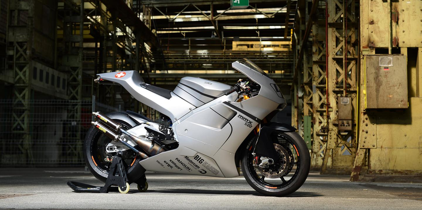 The Suter MMX 500 is as close to a full-spec GP500 racing motorcycle as the public can get
