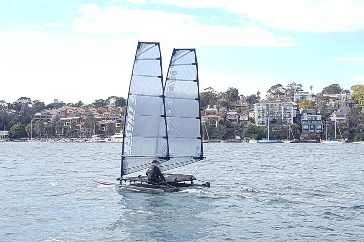The Wave Chaser 390 ZF in action on Sydney Harbour
