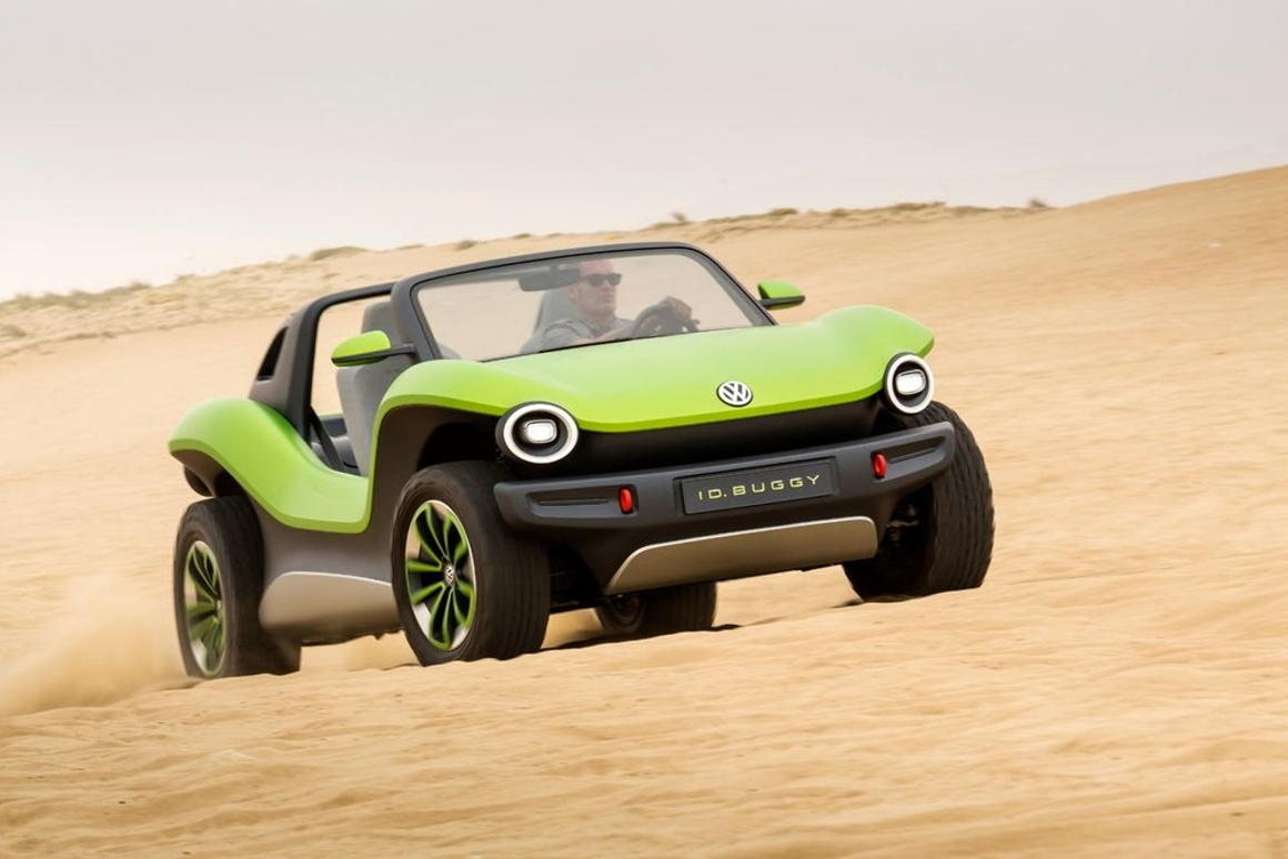 Looking to mix a bit of beach cruising culture from a bygone era with some new-age drivetrain technology, Volkswagen debuted its super-cute electrified dune buggy at Geneva earlier in the year