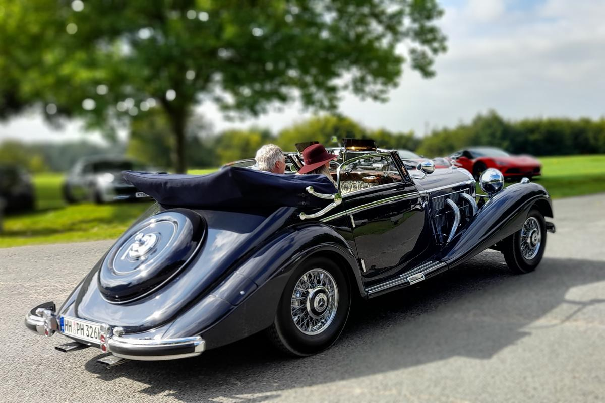 This 1938 Mercedes-Benz 540K Cabriolet A was named Best of Show at the 2021 Salon Privé Concours d'Elégance presented by Aviva. Remarkably, it is the third Mercedes-Benz 540K variant to become a finalist in the Peninsula Classics Best of the Best Award, each with coachwork created in 1938 by Mercedes-Benz own coachworks at Sindelfingen.