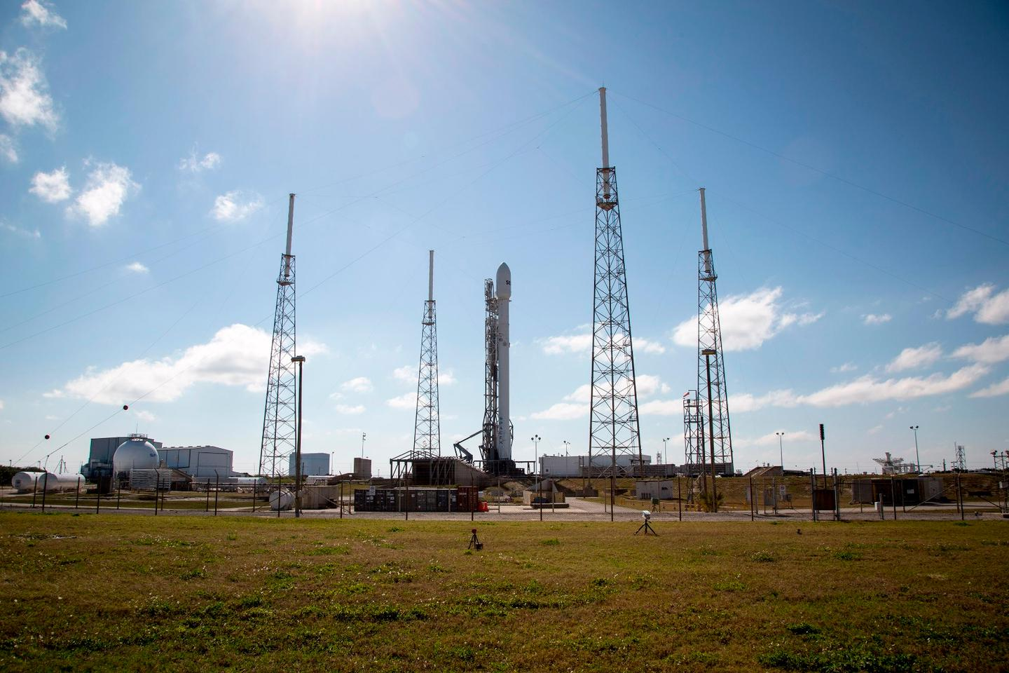 SES-9 on the launch pad