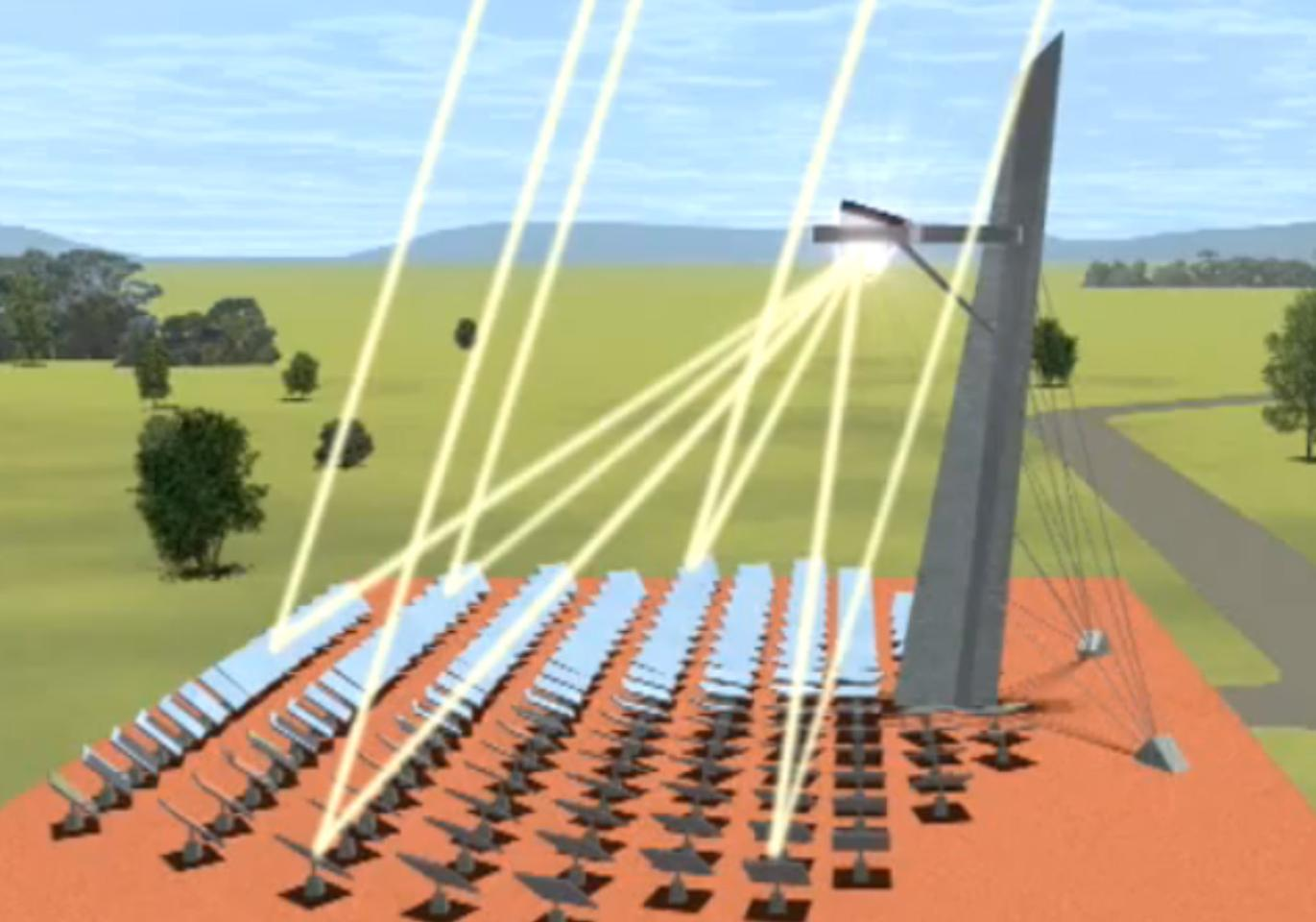 The solar thermal field (Image: CSIRO)