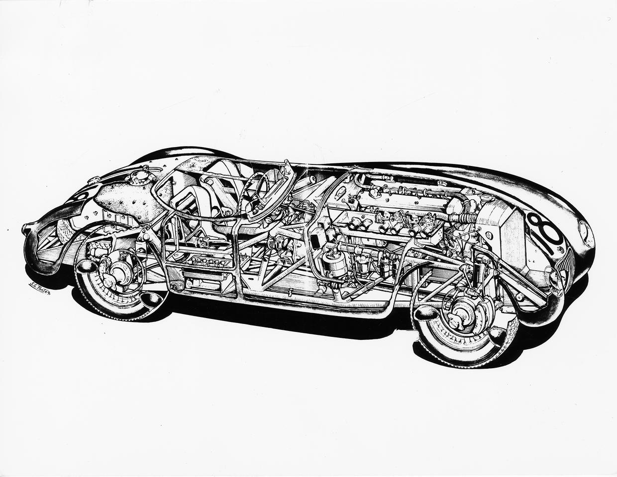 A peek under the skin of the original 1953 C-type