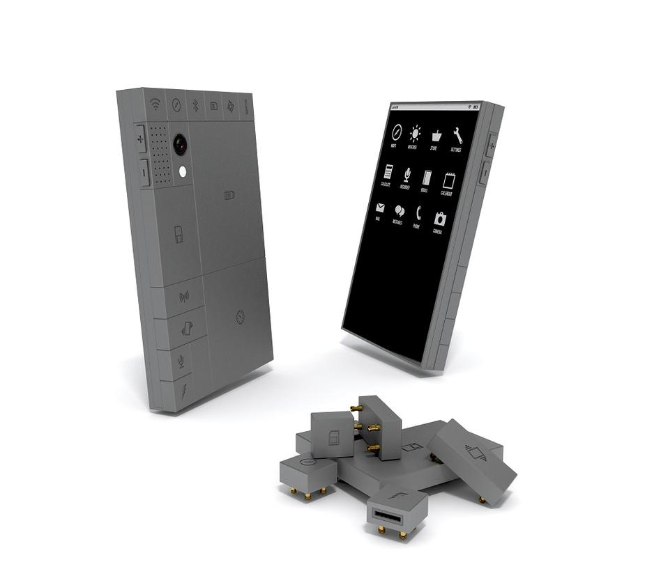 The Phonebloks concept: a smartphone comprising modular bloks for all the various components