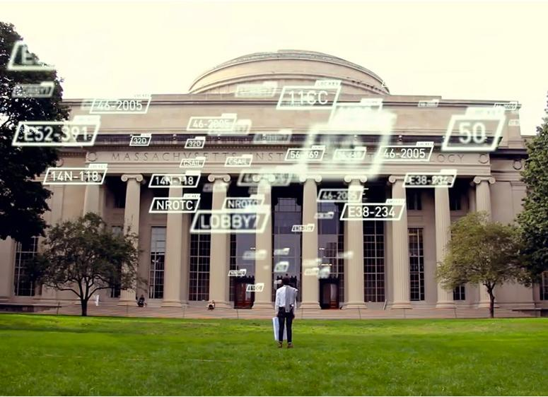 MIT's Skycall system has a drone guide students and visitors on campus (Photo: MIT SENSEable City Lab)