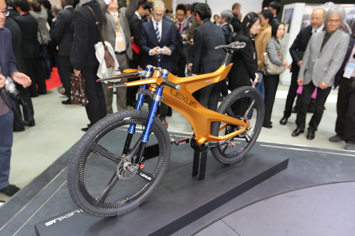 Toro! The Lexus NXB Concept mountain bike, at the Tokyo Motor Show