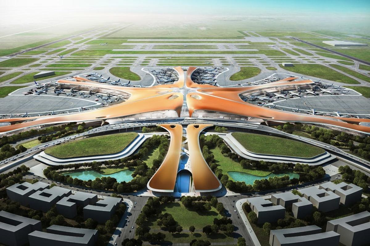 The Beijing Daxing International Airport (akaBeijing New Airport)terminal, ledby Zaha Hadid Architects, is one of the amazingprojects due to be completed in 2019