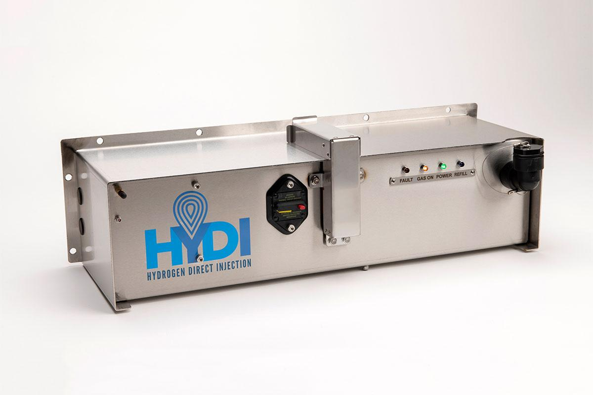 Hydi claims its hydrogen injection unit can make impressive reductions on fuel consumption and emissions for large diesels