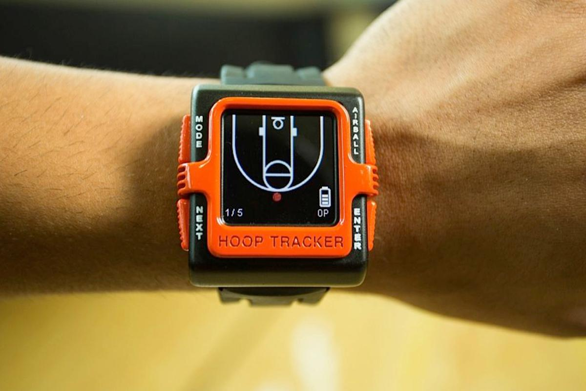 The Hoop Tracker system allows basketball players to track and analyze their training performance