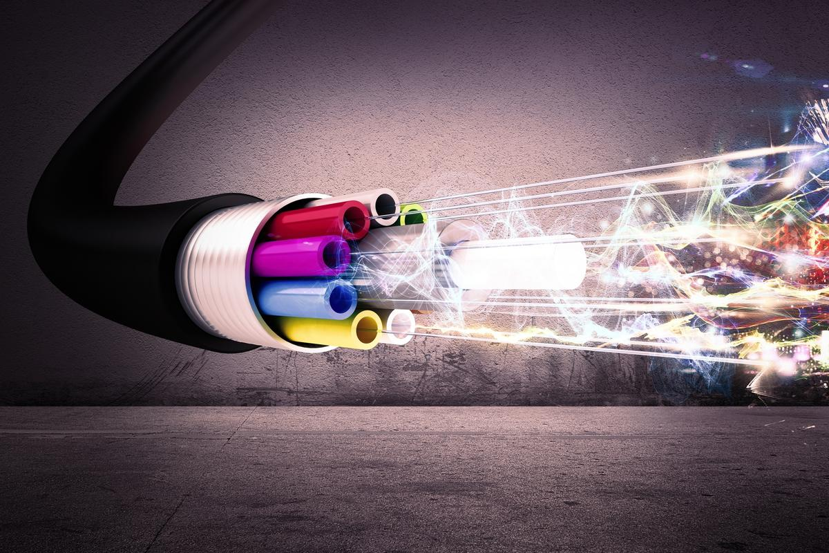 Engineers have broken a data transmission speed record using optical fibers