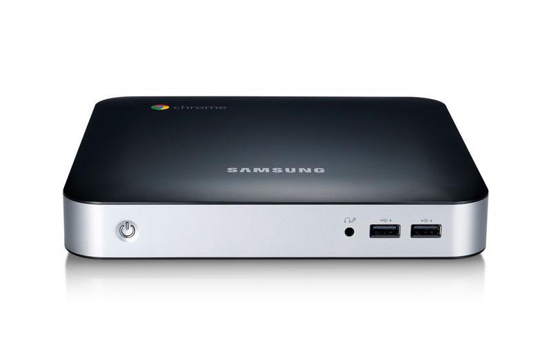 The Chromebox is a portable desktop, measuring 7.5 x 7.5 x 1.3 inches (19 x 19 x 3.3 cm)