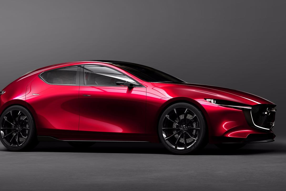 Mazda says that the Kai embodies the company's next-gen SKYACTIV-Vehicle Architecture platform and the newest SKYACTIV-X gasoline engine family