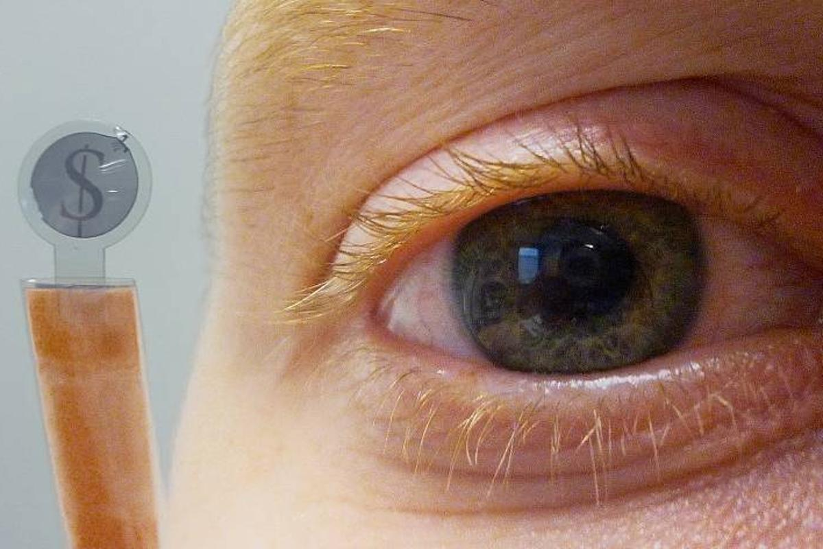 The research could lead to contact lenses which superimpose an image onto the wearer's normal view
