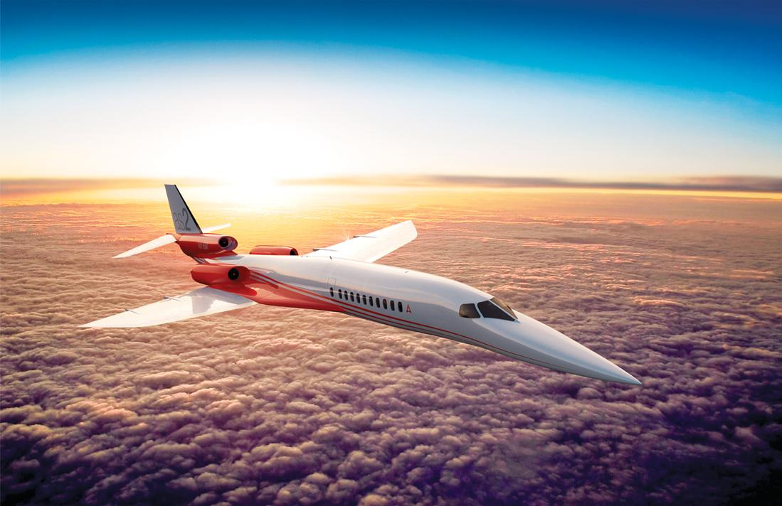 The Aerion AS2 will now use a set of three smaller jet engines for quieter running, improved take-off performance, and longer range