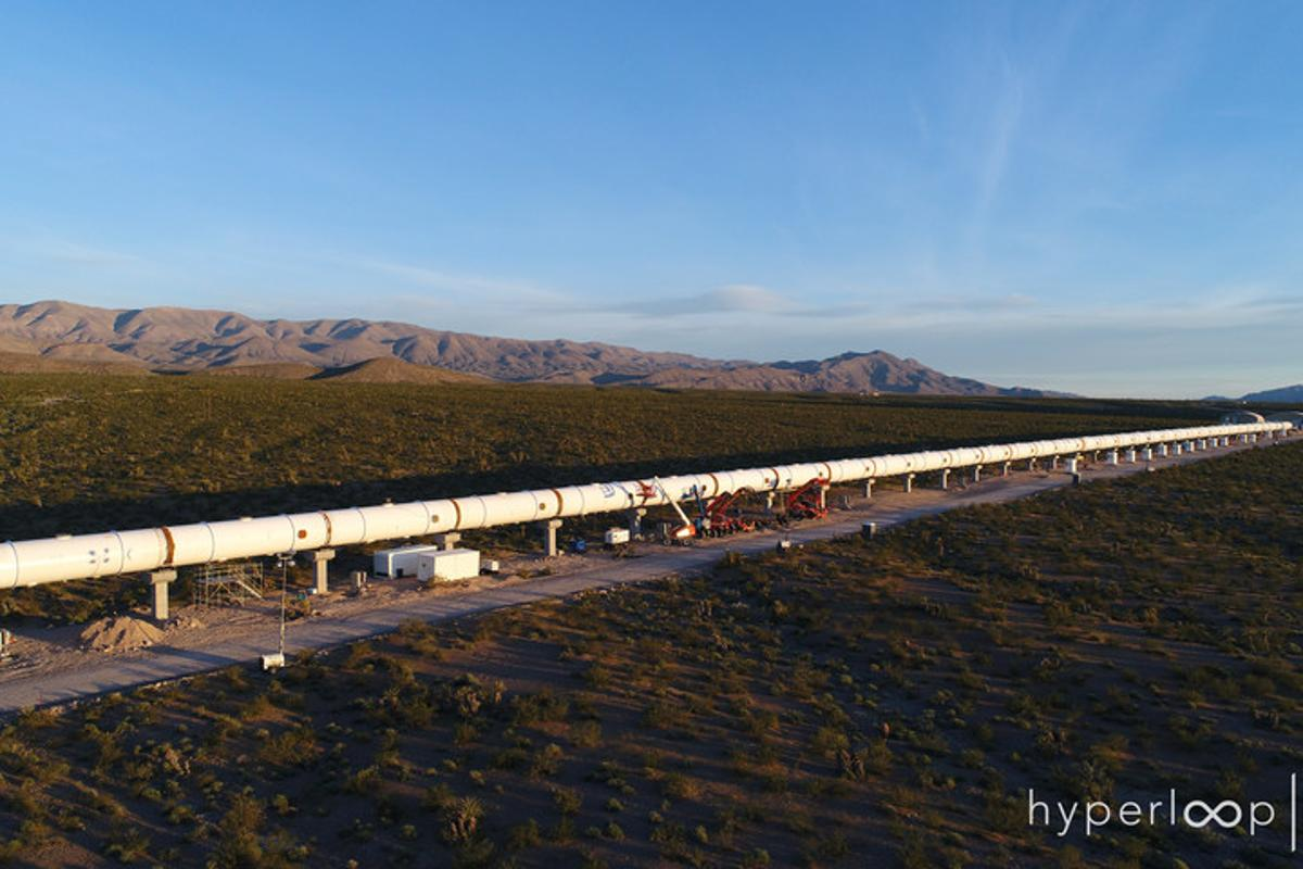 Hyperloop One also revealed that it has added the finishing touches to its 500-meter long test track (0.3 mi) in Nevada