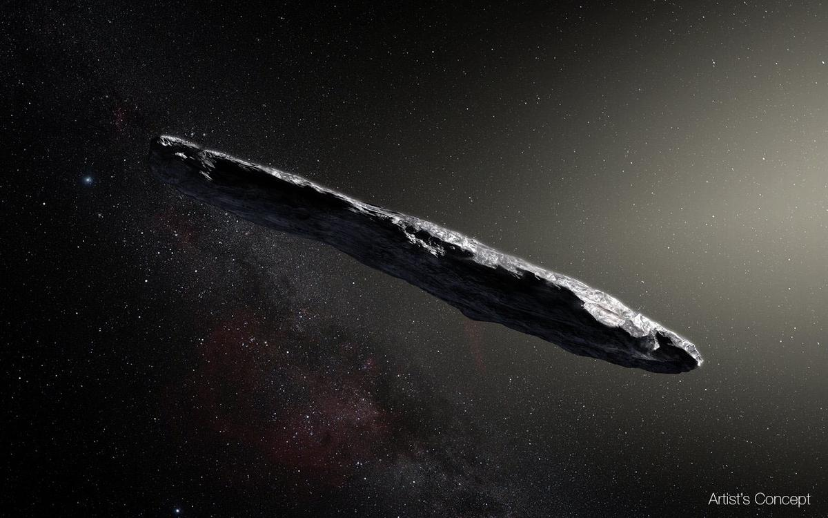 Artist's impression of the asteroid'Oumuamua, also known as A/2017 U1