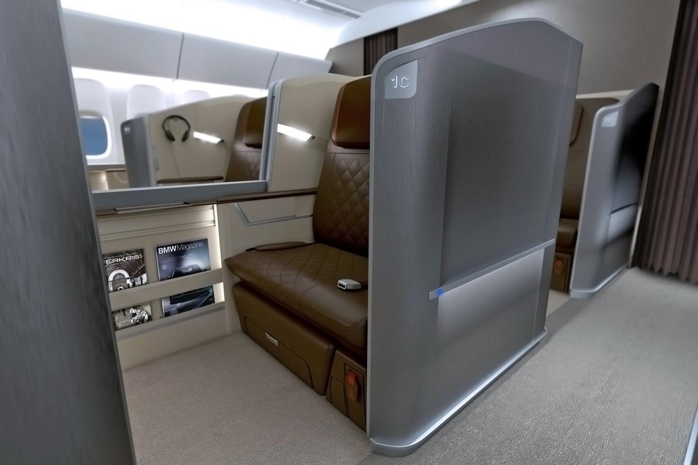 The next-generation First Class seats will be available on select flights between London and Singapore