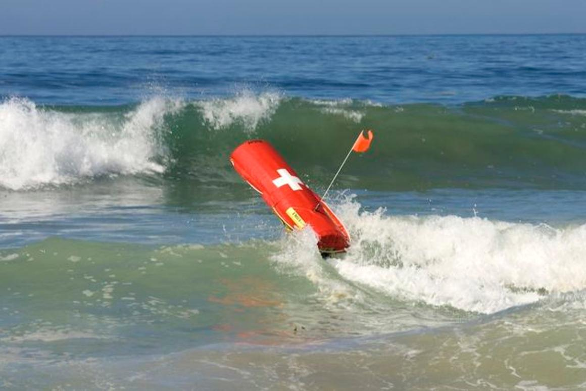 EMILY is an electric remote-control motorized rescue buoy, that shore-based lifeguards can use to rescue drowning swimmers (Photo: Hydronalix)