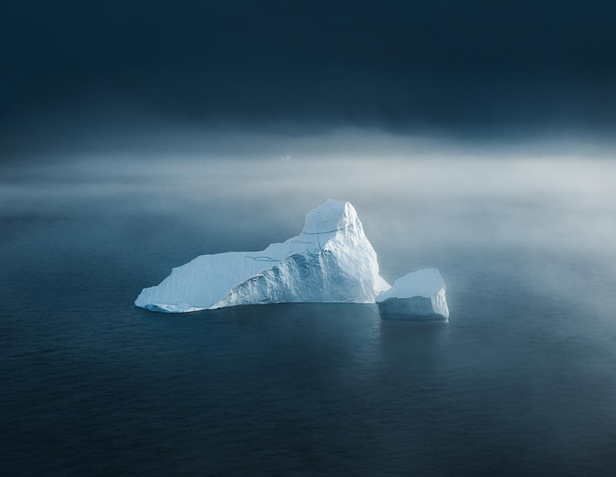 These incredibleiceberg images investigate Tom Hegen's fascination with theshapes, texture and appearance of broken off ice masses from the Arctic Ice Sheet