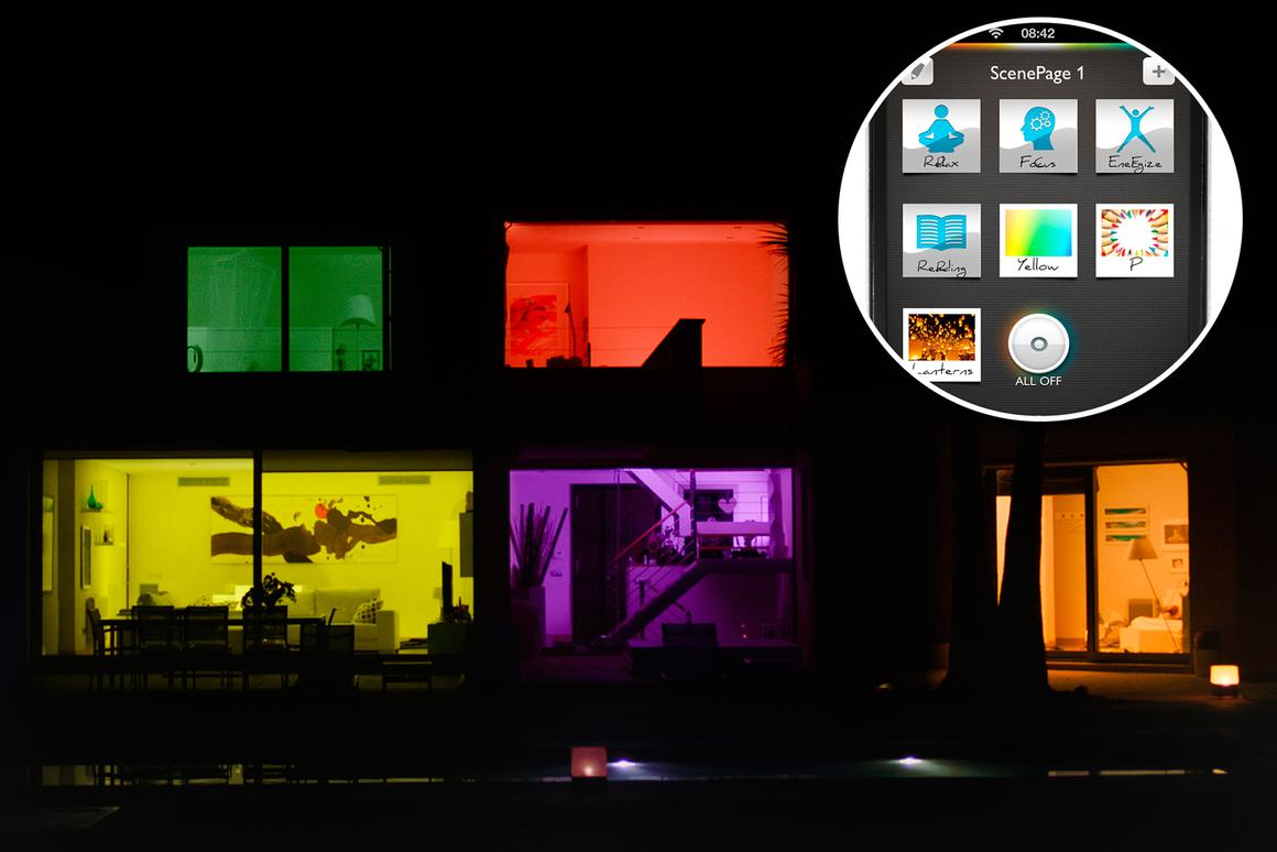 Philips hue system lets you customize the lighting in every room in the house