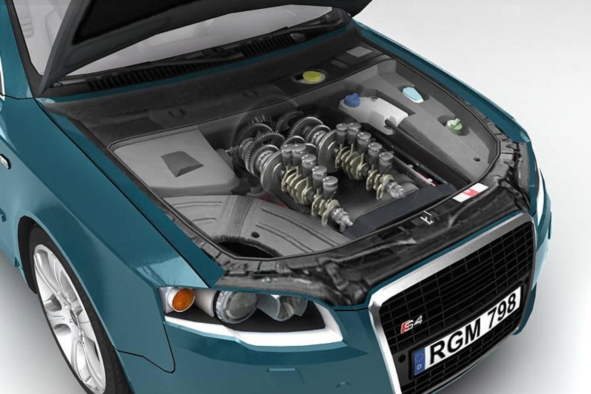 Eco-Motive's dual-fuel H-motor splits the engine into two more efficient halves