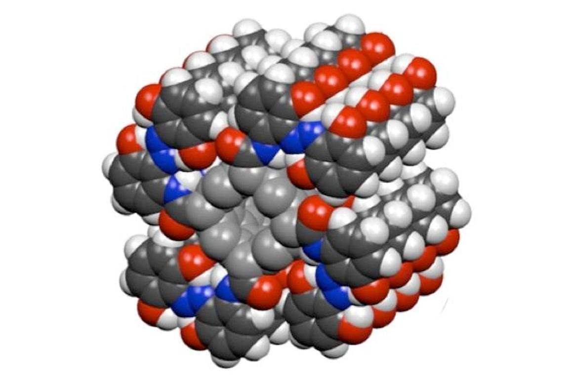 An azobenzene-functionalized carbon nanotube molecule, which can store solar energy indefinitely (Image: Grossman/Kolpak)