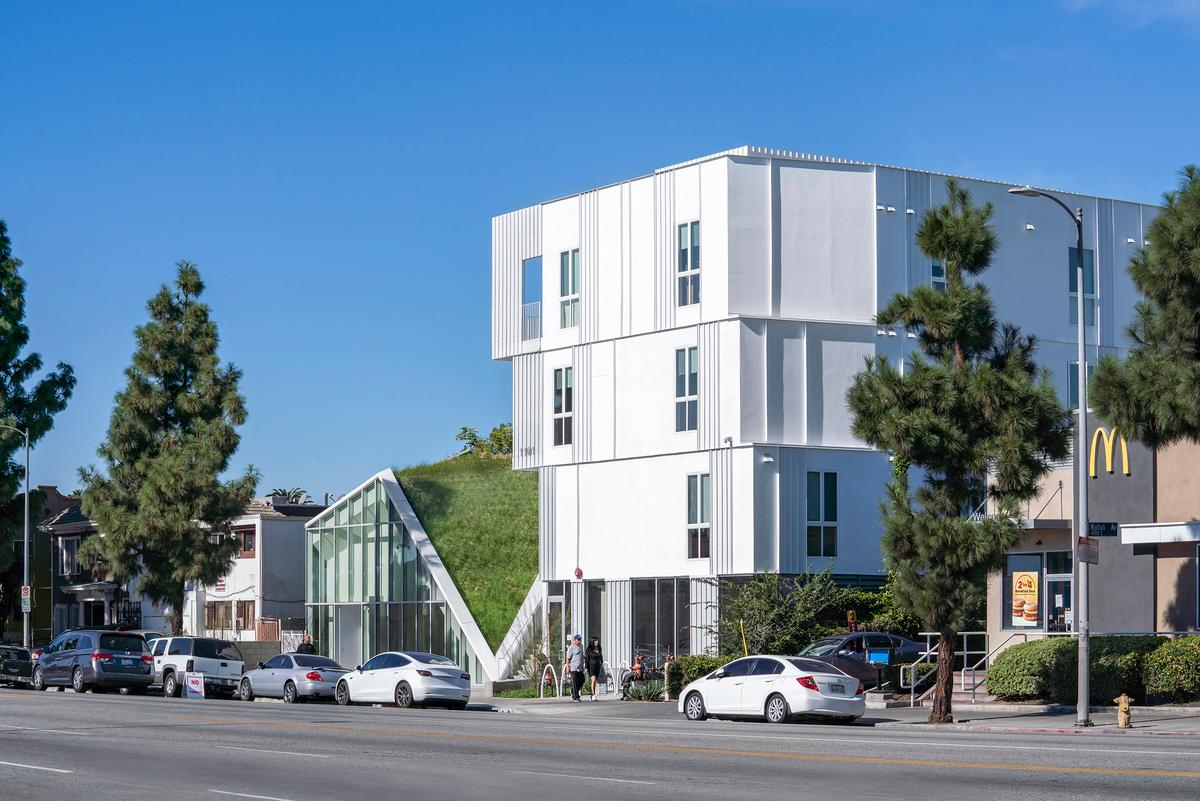 MLK1101 Supportive Housing has received LEED Gold certification (a green building standard) due to its energy-efficient design